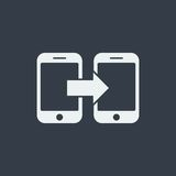 smartphone icon website seo flat design, gadget icon Royalty Free Stock Photo