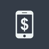 smartphone icon website seo flat design, gadget icon Royalty Free Stock Photography