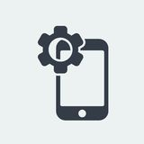 smartphone icon website seo flat design, gadget icon Stock Images