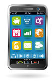 Smartphone with icons Stock Image