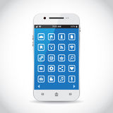Smartphone with icons Royalty Free Stock Photos