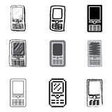 Smartphone icons set. Smartphone mobile icons vector set royalty free illustration