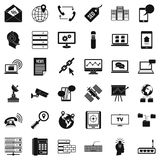 Smartphone icons set, simple style Stock Photography