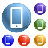 Smartphone icons set vector stock illustration