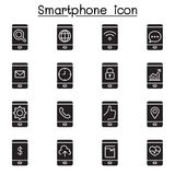 Smartphone icons. Vector illustration graphic design Stock Photo