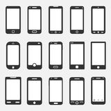 Smartphone icons vector. Smartphone icons set, vector illustration on white background Royalty Free Stock Images
