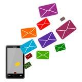 Smartphone ikona odizolowywająca na bielu - ilustracja Obrazy Stock