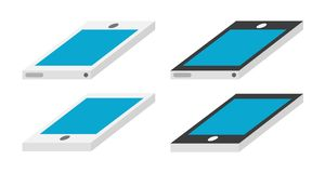 Smartphone. Illustration in two different colors. Vector available Royalty Free Stock Photos