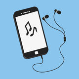 Smartphone, ilustração lisa do vetor do estilo Foto de Stock Royalty Free