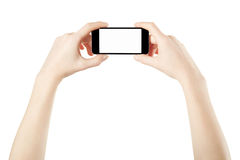 Free Smartphone In Female Hands Taking Photo Royalty Free Stock Image - 39219496