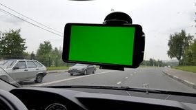 Smartphone inside the car stock video