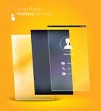 Smartphone interface Ui design Mock up ,phone6 Ratio screen,yell Stock Photo