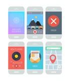Smartphone interfejsu podaniowi elementy ilustracji