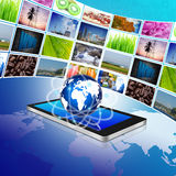 Smartphone and internet production technology concept,cellphone Stock Photography