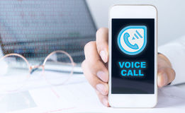Smartphone with Internet Vocie call Royalty Free Stock Photo