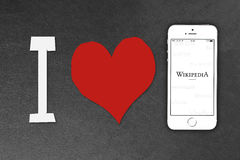 Smartphone iPhone της Apple 5s Στοκ εικόνα με δικαίωμα ελεύθερης χρήσης