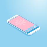 Smartphone isometrico Fotografia Stock Libera da Diritti