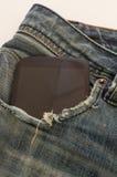 Smartphone in jeans Immagine Stock Libera da Diritti