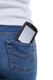 Smartphone jeans pocket Stock Image