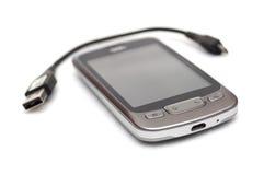 smartphone kablowy usb Obraz Stock