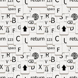 Smartphone keyboard white buttons, seamless pattern Royalty Free Stock Photos