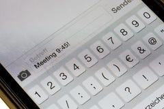 Smartphone keypad Stock Photography
