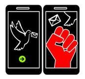 Smartphone killing rozmowa ilustracji