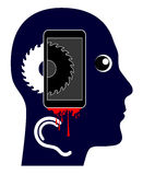 Smartphone is killing you Royalty Free Stock Photo