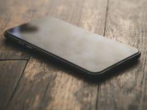 Smartphone Klasyczny Czarny Smartphone Fotografia Stock