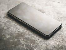 Smartphone Klasyczny Czarny Smartphone Zdjęcie Stock