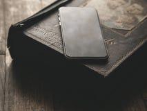 Smartphone Klasyczny Czarny Smartphone Obraz Stock