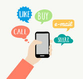 Smartphone-Konzept - Kommunikation Lizenzfreie Stockfotografie