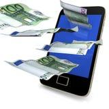 Smartphone kostet Geld Stockfotografie