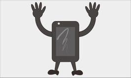 Smartphone kreskówka Zdjęcia Royalty Free