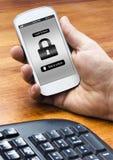 Smartphone låsskärm Royaltyfria Bilder