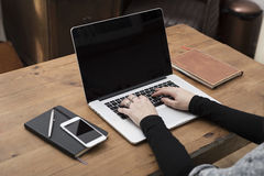 Smartphone / laptop mockup Stock Image