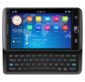 Smartphone latéral d'écran tactile de glisseur Images stock