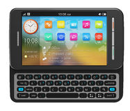 Smartphone lateral do écran sensível do slider Imagens de Stock Royalty Free