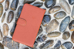 Smartphone leather case cover Royalty Free Stock Photos