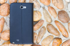 Smartphone leather case cover Stock Image
