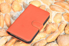 Smartphone leather case cover Royalty Free Stock Images