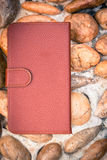 Smartphone leather case cover Stock Photography