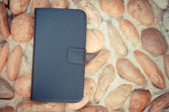 Smartphone leather case cover Stock Images