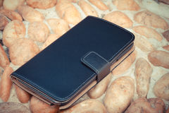 Smartphone leather case cover Royalty Free Stock Photo
