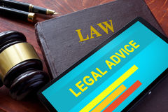 Smartphone with  legal advice. Royalty Free Stock Images