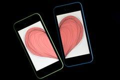 Smartphone-liefde Royalty-vrije Stock Afbeelding
