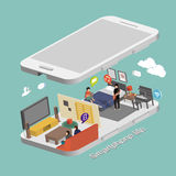 Smartphone life concept Stock Image