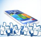 Smartphone likes Royalty Free Stock Photos