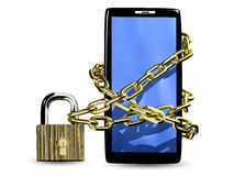 Smartphone with lock Royalty Free Stock Image