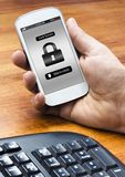 Smartphone lock screen Royalty Free Stock Images